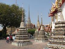 Guld- Buddha, Wat Pho Temple, Bangkok 02 Arkivfoto