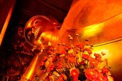Guld- Buddhabild Royaltyfri Foto