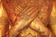 Guld- Buddhahand Arkivbilder
