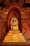 Guld- Buddhastaty Royaltyfri Fotografi