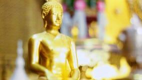 Guld- Buddhastaty lager videofilmer