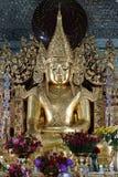 Guld- Buddhastaty på Sanda Muni Buddhist Temple Royaltyfria Foton