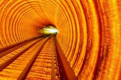 Guld- Bund Shanghai för underjordisk järnväg för huvudvägstångabstrakt begrepp Royaltyfria Bilder
