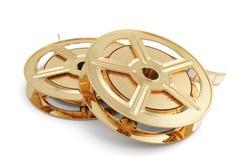 Guld- bunt för filmrullar Royaltyfri Fotografi