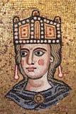 Guld- byzantine mosaik i Rome arkivfoto