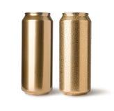 Guld- cans fotografering för bildbyråer
