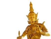 Guld- Catummaharajika hinduisk gud Fotografering för Bildbyråer