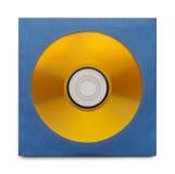 Guld- CD med fallet fotografering för bildbyråer