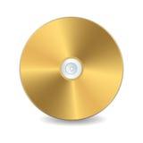 guld- cd-skiva Arkivbild