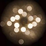 Guld- cirkel Bokeh Royaltyfri Bild
