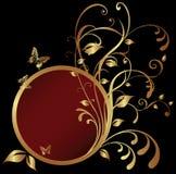 guld- cirkel för banerram Fotografering för Bildbyråer