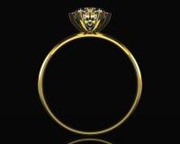 guld- cirkel för diamant Royaltyfri Fotografi