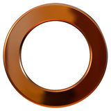Guld- cirkel för ram Royaltyfri Bild