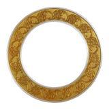 Guld- cirkel för ram på isolerad vit bakgrund royaltyfria bilder