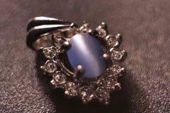 Guld- cirkel för smycken Royaltyfri Foto