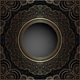 Guld- cirkelram för tappning Royaltyfria Foton