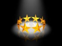 guld- cirkelstjärnor Royaltyfri Fotografi