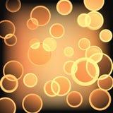 guld- cirkelvektor Arkivbilder