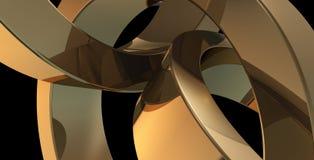 guld- cirklar stock illustrationer