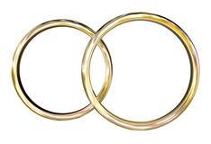 guld- cirklar Royaltyfri Foto