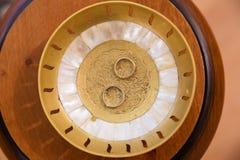 Guld- cirklar för koppling Royaltyfri Foto