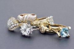Guld- cirklar för tappning Royaltyfri Foto