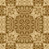 Guld- cristal geometribakgrund och symmetridesign, abstrakt dekorativt royaltyfri illustrationer