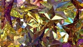 Guld- Crystal Stars Arkivfoton