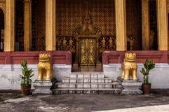 guld- dörr Fotografering för Bildbyråer