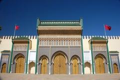 Guld- dörrar i Fez Royaltyfria Foton