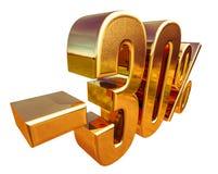 guld 3d 30 procent rabatttecken Royaltyfria Foton