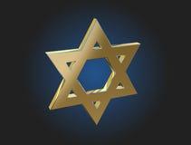 Guld- davidsstjärna royaltyfri fotografi