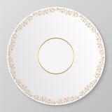 Guld- dekorativ platta för vektor Arkivfoton