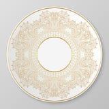 Guld- dekorativ platta för vektor Royaltyfria Foton