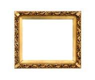 Guld- dekorativ ram för att måla Royaltyfria Bilder