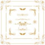 Guld- dekorativa beståndsdelar Arkivbild