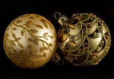 Guld- dekorativt Royaltyfri Fotografi