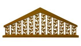Guld- dekorativt staket - stock illustrationer