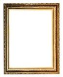 Guld- dekorerad forntida bildram royaltyfria foton