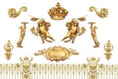 Guld- detalj arkivbild