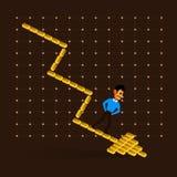 Guld- diagram Arkivbilder