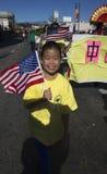 115. guld- Dragon Parade, kinesiskt nytt år, 2014, år av hästen, Los Angeles, Kalifornien, USA Fotografering för Bildbyråer
