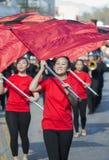 115. guld- Dragon Parade, kinesiskt nytt år, 2014, år av hästen, Los Angeles, Kalifornien, USA Arkivbild
