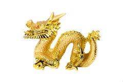 Guld- drake som isoleras på vitbakgrund Royaltyfri Fotografi