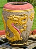 Guld- drakekrus Royaltyfri Foto