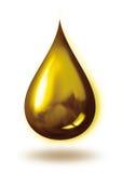 guld- droppe Royaltyfri Fotografi