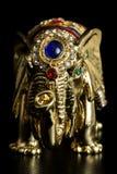 Guld- elefant Arkivfoto