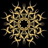 guld- element royaltyfri illustrationer