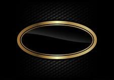 Guld- ellips Royaltyfri Bild
