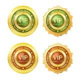 Guld- emblem för medlem Royaltyfria Foton